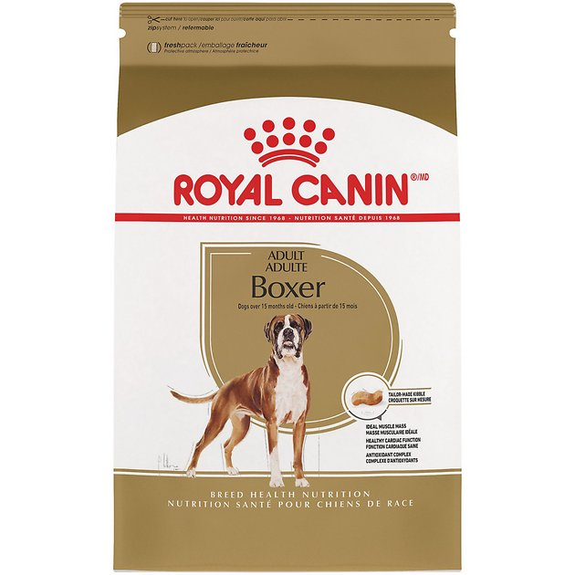 3. Royal Canin Breed Specific Dog Food for Adult Boxer Dogs
