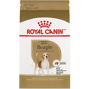 Royal Canin Beagle Adult Dry Dog Food, 30-lb bag; This Royal Canin formula is designed exclusively for pure breed Beagles over 12 months old. The Beagle actually has three distinct barks/sounds: a standard bark, a bay (usually used when hunting) and a howl. They tend to eat quickly, and are little athletes with stamina and energy to spare. This formula is tailor-made for the specific needs of the lovable, unique Beagle!