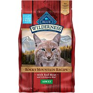 Blue Buffalo Wilderness Rocky Mountain Recipe with Red Meat Adult Grain-Free Dry Cat Food, 4-lb bag