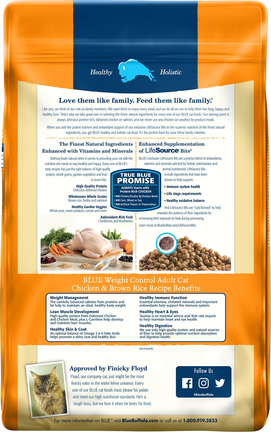 Blue Buffalo Weight Control Chicken Brown Rice Recipe Adult Dry