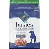 Blue Buffalo Basics Limited Ingredient Grain-Free Formula Duck & Potato Recipe Adult Dry Dog Food, 22-lb bag