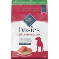 Blue Buffalo Basics Limited Ingredient Grain-Free Formula Salmon & Potato Recipe Adult Dry Dog Food, 22-lb bag