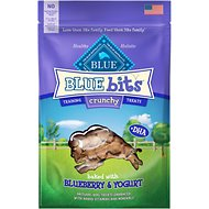 Blue Buffalo Blue Bits Blueberry & Yogurt Crunchy Training Dog Treats, 3-oz bag