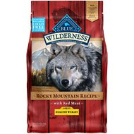 Blue Buffalo Wilderness Rocky Mountain Recipe with Red Meat Healthy Weight Grain-Free Dry Dog Food, 4-lb bag