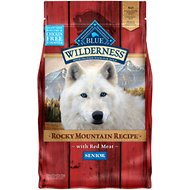Blue Buffalo Wilderness Rocky Mountain Recipe with Red Meat Senior Grain-Free Dry Dog Food, 4-lb bag