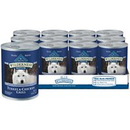 Blue Buffalo Wilderness Turkey & Chicken Grill Grain-Free Senior Canned Dog Food