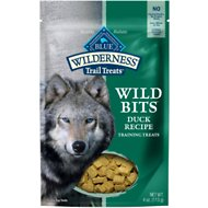 Blue Buffalo Wilderness Trail Treats Duck Wild Bits Grain-Free Training Dog Treats