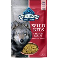 Blue Buffalo Wilderness Trail Treats Salmon Wild Bits Grain-Free Training Dog Treats