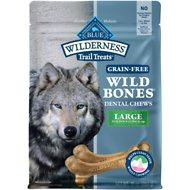 Blue Buffalo Wilderness Wild Bones Large Dental Chews Grain-Free Dog Treats