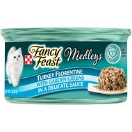 Fancy Feast Elegant Medleys Turkey Florentine Canned Cat Food, 3-oz, case of 24