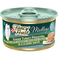 Fancy Feast Medleys Tender Turkey Primavera Canned Cat Food, 3-oz, case of 24