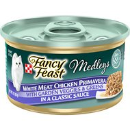 Fancy Feast Medleys White Meat Chicken Primavera Canned Cat Food, 3-oz, case of 24