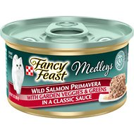 Fancy Feast Medleys Wild Salmon Primavera Canned Cat Food, 3-oz, case of 24