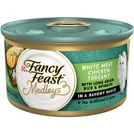 Fancy Feast Elegant Medleys White Meat Chicken Tuscany Canned Cat Food, 3-oz, case of 24