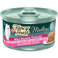 Fancy Feast Medleys Wild Salmon Tuscany Canned Cat Food, 3-oz, case of 24