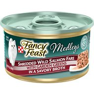 Fancy Feast Medleys Shredded Wild Salmon Fare Canned Cat Food, 3-oz, case of 24