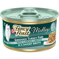 Fancy Feast Medleys Shredded Turkey Fare Canned Cat Food, 3-oz, case of 24