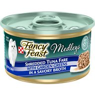 Fancy Feast Medleys Shredded Tuna Fare Canned Cat Food, 3-oz, case of 24