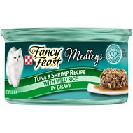 Fancy Feast Medleys Tastemakers Tuna & Shrimp Recipe Canned Cat Food, 3-oz, case of 24