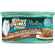 Fancy Feast Medleys Tastemakers White Meat Chicken & Tuna Recipe Canned Cat Food, 3-oz, case of 24