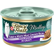 Fancy Feast Medleys Tastemakers Turkey & White Meat Chicken Recipe Canned Cat Food, 3-oz, case of 24