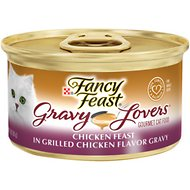 Fancy Feast Gravy Lovers Chicken Feast in Grilled Chicken Flavor Gravy Canned Cat Food, 3-oz, case of 24
