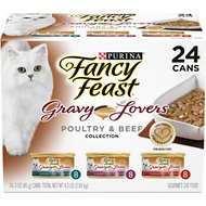 Fancy Feast Gravy Lovers Poultry & Beef Feast Variety Pack Canned Cat Food, 3-oz, case of 24
