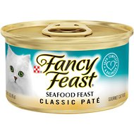Fancy Feast Classic Seafood Feast Canned Cat Food, 3-oz, case of 24