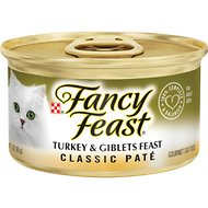Fancy Feast Classic Turkey & Giblets Feast Canned Cat Food, 3-oz, case of 24