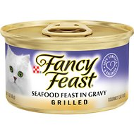 Fancy Feast Grilled Seafood Feast in Gravy Canned Cat Food, 3-oz, case of 24