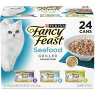 Fancy Feast Grilled Seafood Feast Variety Pack Canned Cat Food, 3-oz, case of 24