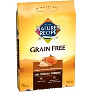 Nature's Recipe Grain-Free Chicken, Sweet Potato & Pumpkin Recipe Dry Dog Food, 12-lb bag