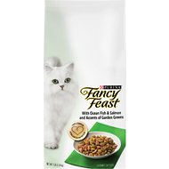 Fancy Feast Gourmet Ocean Fish & Salmon & Accents of Garden Greens Dry Cat Food, 7-lb bag
