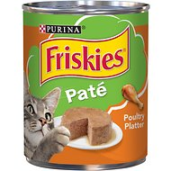 Friskies Classic Pate Poultry Platter Canned Cat Food, 13-oz, case of 12