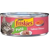 Friskies Pate Salmon Dinner Canned Cat Food, 5.5-oz, case of 24