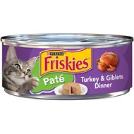 Friskies Classic Pate Turkey & Giblets Dinner Canned Cat Food, 5.5-oz, case of 24