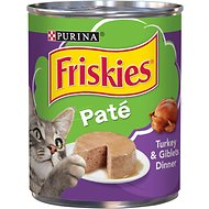Friskies Classic Pate Turkey & Giblets Dinner Canned Cat Food, 13-oz, case of 12