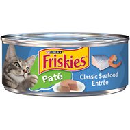 Friskies Classic Pate Classic Seafood Entree Canned Cat Food, 5.5-oz, case of 24