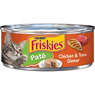 Friskies Classic Pate Chicken & Tuna Dinner Canned Cat Food, 5.5-oz, case of 24