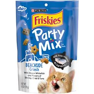 Friskies Party Mix Crunch Beachside Cat Treats, 6-oz bag