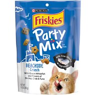 Friskies Party Mix Crunch Beachside Cat Treats, 10-oz bag