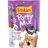 Friskies Party Mix Crunch Kahuna Cat Treats, 6-oz bag