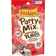 Friskies Party Mix Natural Yums With Real Salmon Cat Treats, 2.1-oz pouch