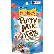 Friskies Party Mix Natural Yums with Real Tuna Cat Treats, 2.1-oz bag