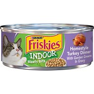 Friskies Indoor Homestyle Turkey Dinner Canned Cat Food, 5.5-oz, case of 24