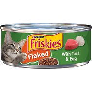 Friskies Flaked with Tuna & Egg in Sauce Canned Cat Food, 5.5-oz, case of 24