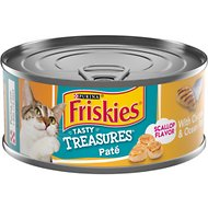 Friskies Tasty Treasures Pate Chicken & Ocean Fish Dinner with Cheese Canned Cat Food, 5.5-oz, case of 24