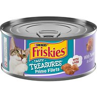 Friskies Tasty Treasures with Turkey & Cheese in Gravy Canned Cat Food, 5.5-oz, case of 24