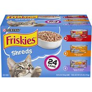 Friskies Savory Shreds Variety Pack Canned Cat Food, 5.5-oz, case of 24