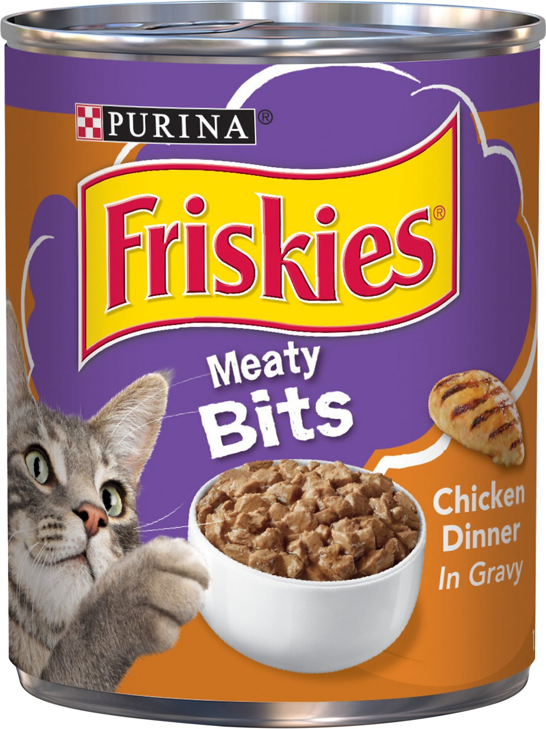 Friskies Meaty Bits Chicken Dinner In Gravy Canned Cat Food 13 Oz
